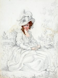 Maria Kirwan, sketched by her husband William. National Library of Ireland Collection
