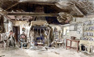 Watercolour by Kirwan. National Library of Ireland Collection