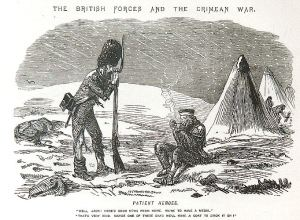 Punch cartoon on the poor conditions of British troops