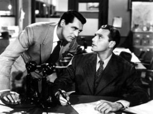 Cary Grant and Ralph Bellamy in 'His Girl Friday'
