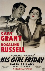 his girl friday movie poster 2