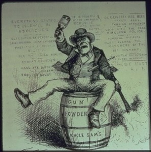 """The Usual Irish Way of Doing Things"", 1871 cartoon by Thomas Nast"