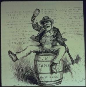 """The Usual Irish Way of Doing Things"", 1871 cartoon by Thomas Nast"