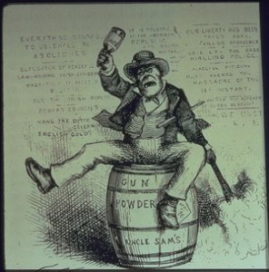 "'The Usual Irish Way of Doing Things"". Cartoon by  Thomas Nast, 1871"