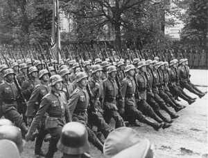 "The Nazi invasion of Poland and the start of WWII, 75 years ago this month. J-Lawness Scale: 0.75 Poland has a bad history of being overrun by totalitarian states, and a dictatorhsip is at the heart of Jennifer Lawrence's ""Hunger Games"" movies; perhaps that is why she has a particularly rabid fan base on Polish Tumblr sites. source: ushmm.org"