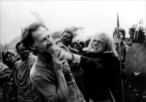 Herzog and his best friend, actor Klaus Kinski. source: jackfilmreviews