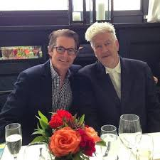 "MacLachlan posted this photo on his Twitter feed with the words ""Hanging with my friend David Lynch… damn good hair!""  source: welcometotwinpeaks.tumblr"