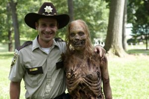 Rick and the Bicycle Walker from Episode One. source: undeadwalking.com