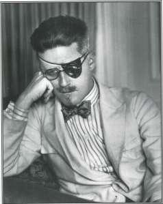 James Joyce anteojos sobre tapa ojo