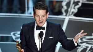 Graham Moore wins Best Adapted Screenplay for The Imitation Game. source: variety