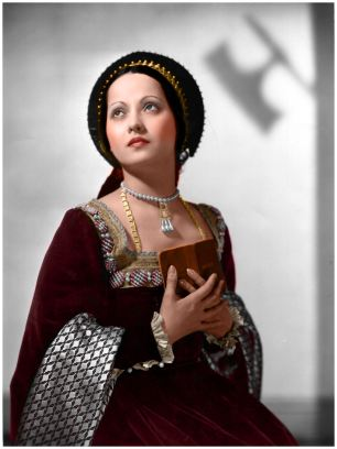 "Merle Oberon as Anne Boleyn, ""The Private Life of Henry VIII"""