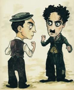 Chaplin_vs_Keaton_damianblake