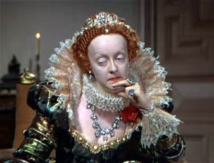 "Bette Davis as Elizabeth I in ""The Private Lives of Elizabeth and Essex"""