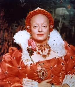 "Davis as Elizabeth again in ""The Virgin Queen"""