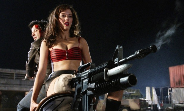 "Rose McGowan in ""Grindhouse"". source: Dimension Films"