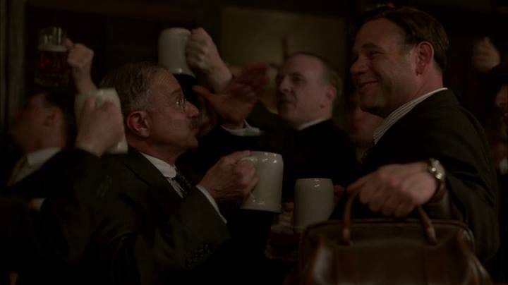"My friend David in a scene from ""Boardwalk Empire"" (he's the bloke in the middle)"