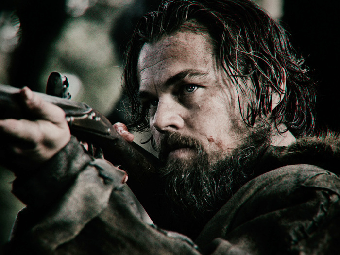 THE REVENANT Leonardo DiCaprio takes aim as trapper Hugh Glass, who must navigate a hostile environment, a brutal winter, and warring Native American tribes in relentless quest to survive and exact vengeance on the men who betrayed him. Photo credit: Kimberley French Copyright © 2015 Twentieth Century Fox Film Corporation. All rights reserved. THE REVENANT Motion Picture Copyright © 2015 Regency Entertainment (USA), Inc. and Monarchy Enterprises S.a.r.l. All rights reserved.Not for sale or duplication.
