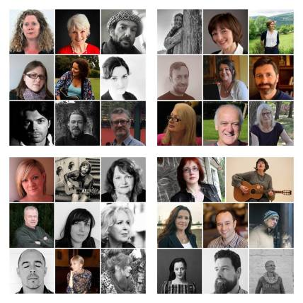 A host of Irish literary talent ... and as a result of a clerical error, me